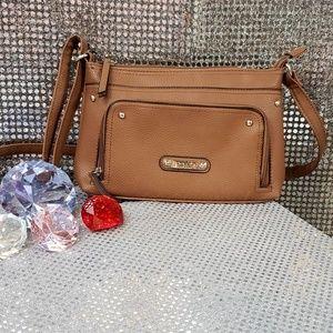 Burnt Sienna/Brown Nicole Miller Shoulder Bag